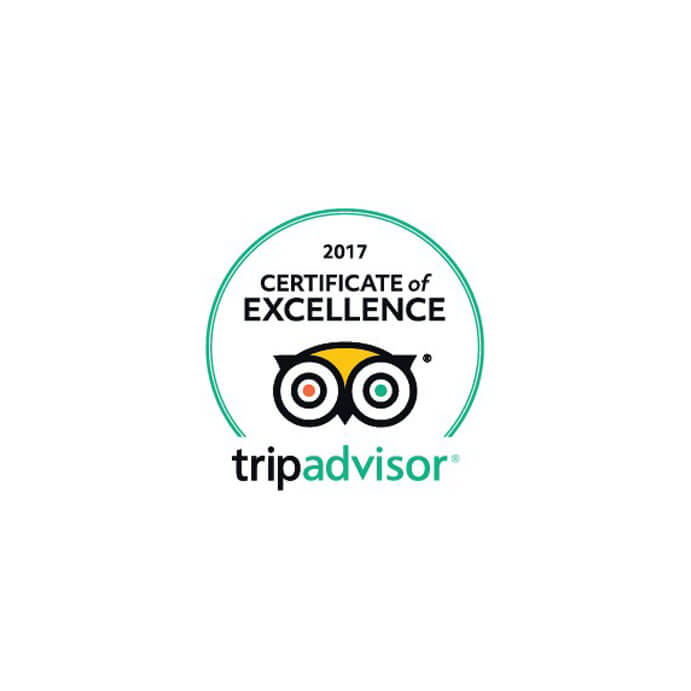 """Certificate of Excellence"" by TripAdvisor (2017)"