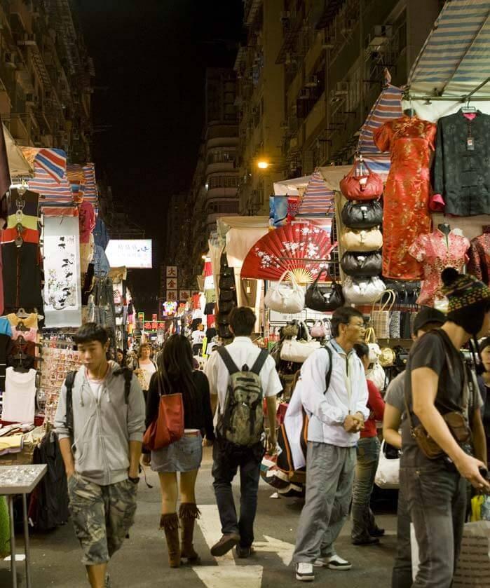 Ladie's Street Market in Hong Kong