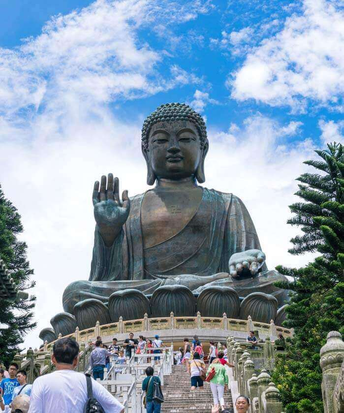 Big Buddha and Po Lin Monastery in Wanchai Hong Kong