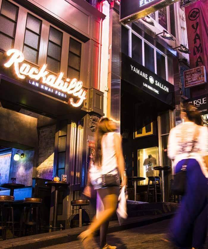 Nightlife at Lan Kwai Fong Street