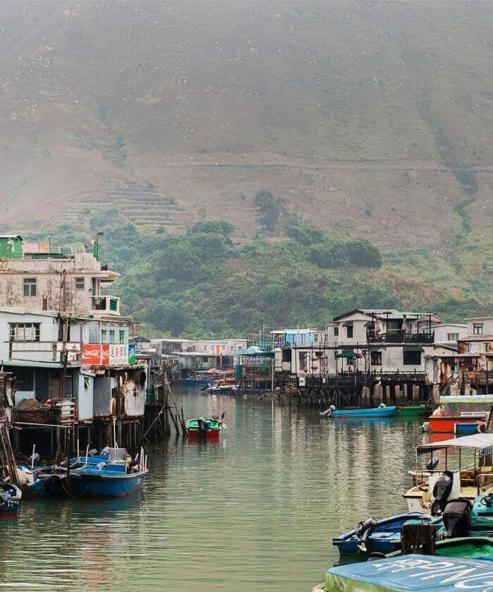 Stilt Houses in Lantau Island Tai O Fishing Village