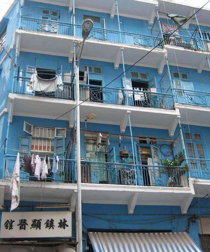 The Blue House Building in Wan Chai Hong Kong