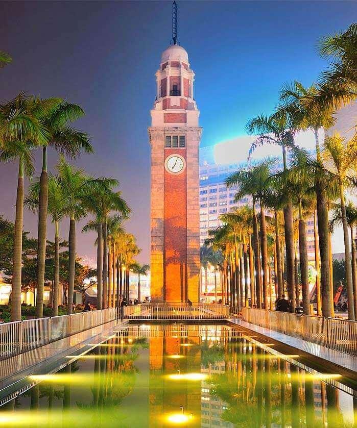 Kowloon-Canton Railway Clock Tower in Hong Kong